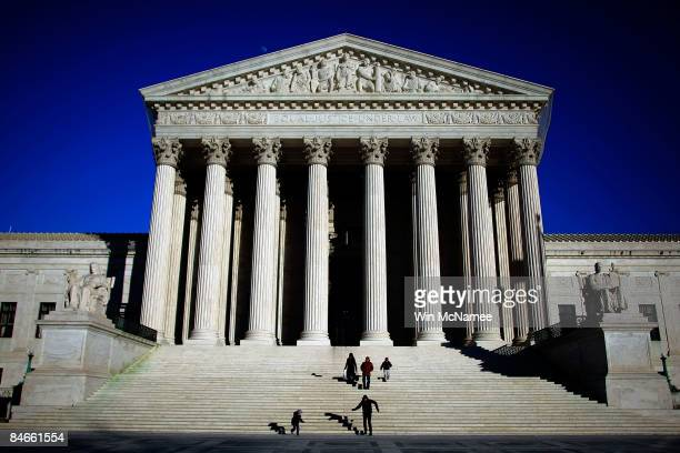 The US Supreme Court is shown February 5 2009 in Washington DC It was announced today that Supreme Court Justice Ruth Bader Ginsburg had surgery...