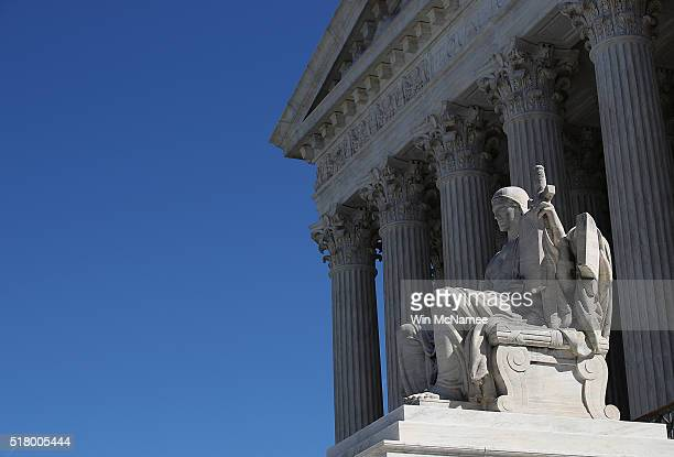 The US Supreme Court is shown March 29 2016 in Washington DC following the first 44 tie in a case before the court The decision resulted in a victory...