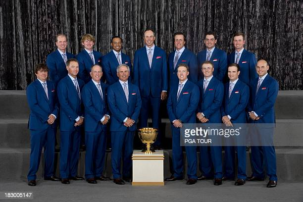 The US Team poses for their formal team photo prior to the Opening Ceremony for The Presidents Cup on October 2 2013 in Columbus Ohio