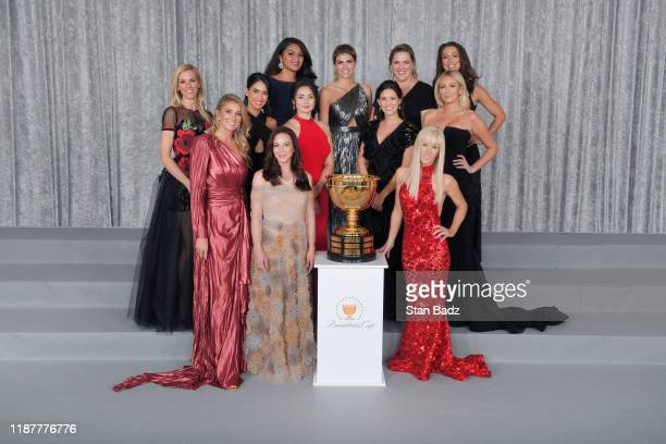 The US Team's wives and girlfriends pose for photos at the Presidents Cup Gala at Crown Towers prior to Presidents Cup at The Royal Melbourne Golf...