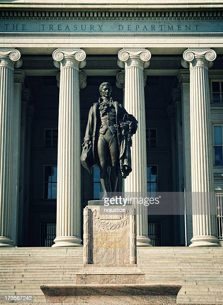 the us treasury department - alexander hamilton stock photos and pictures