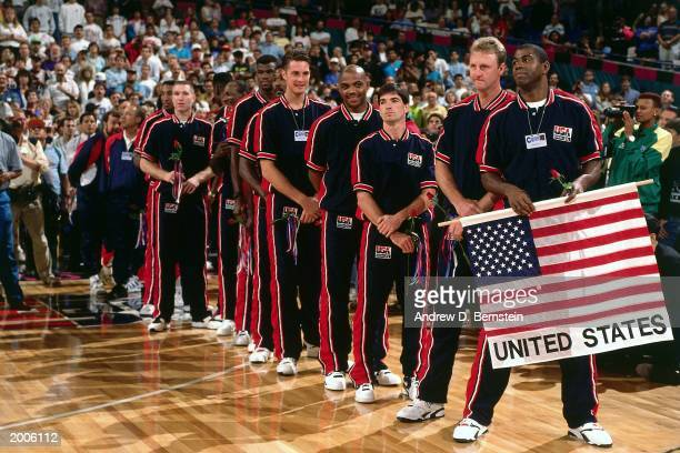 The USA Basketball team Magic Johnson Larry Bird John Stockton Charles Barkley Christian Laettner Karl Malone David Robinson Clyde Drexler Chris...
