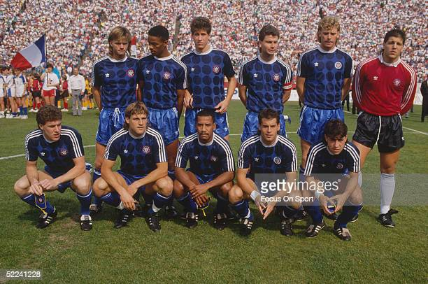 The USA Soccer Team poses for the camera during the 1990 World Cup in Italy