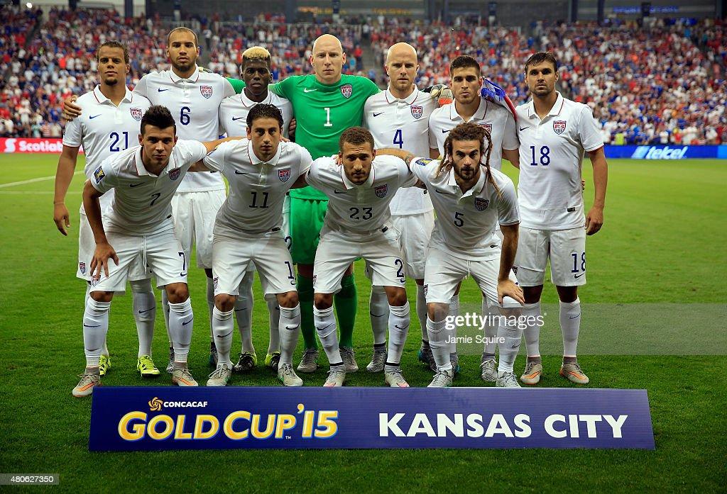 The USA team poses for a team ...