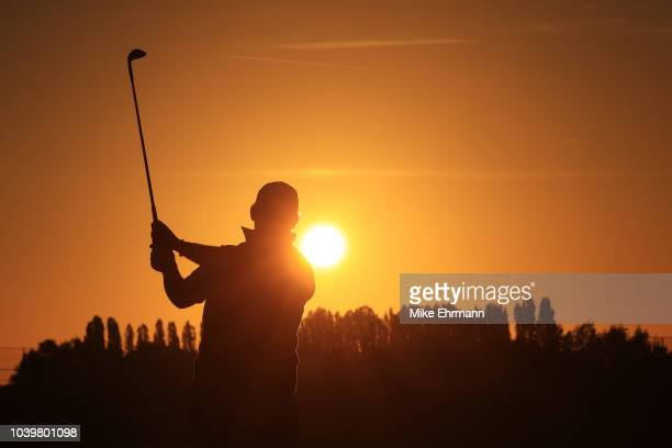 Paris France 25 September 2018 Singer Niall Horan of Europe walks off the 15th green during the Celebrity Matches prior to the Ryder Cup 2018 Matches...