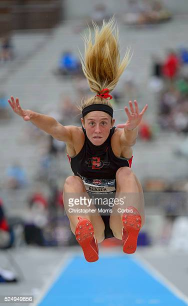 The USA track field championships in Des Moines IowaDay 2 Heptathlete Allison Reaser in the long jump