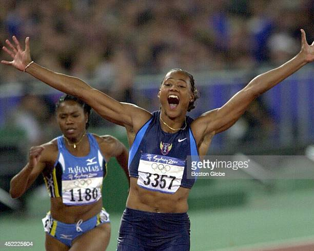 The USA's Marion Jones won the women's 100meter sprint for a gold medal