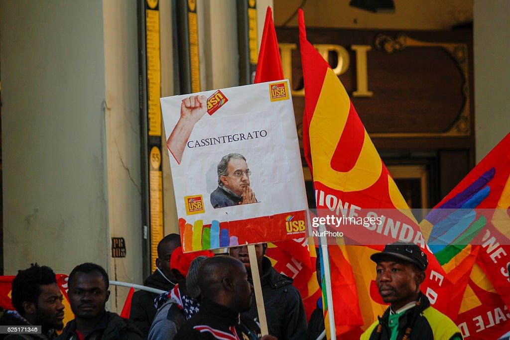 National general strike in Turin : News Photo