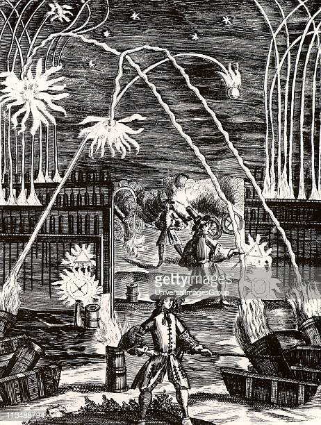 The uses of gunpowder including mortars cannon rockets and fireworks From Magia Naturalis by Johannes Baptista della Porta The first edition of this...