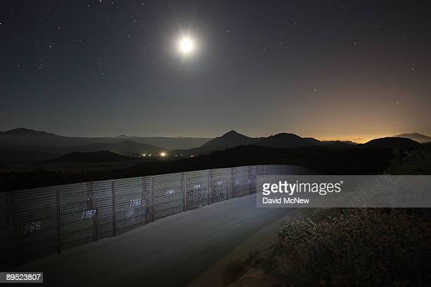 The USMexico border fence is seen as Border Patrol agents carry out special operations following the first fatal shooting of a US Border Patrol agent...