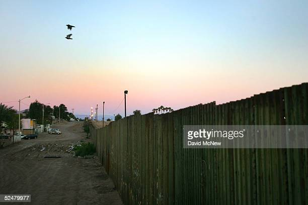 The USMexico border fence is seen March 25 2005 between Mexicali Mexico and Calexico California Since the launch of the North American Free Trade...