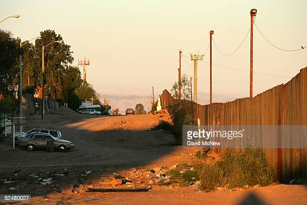 The USMexico border fence is shown on March 25 2005 between Mexicali Mexico and Calexico California Since the launch of the North American Free Trade...