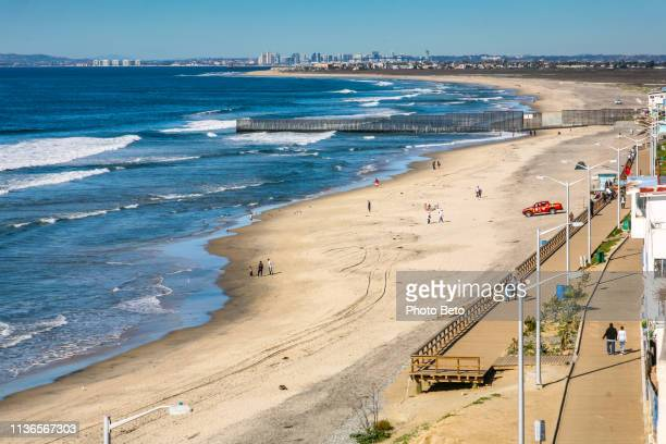 usa/mexico border - the wall - tijuana stock pictures, royalty-free photos & images