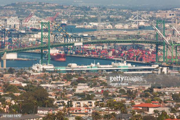 the usns mercy (t-ah-19) at the port of los angeles in san pedro ca - military attack stock pictures, royalty-free photos & images