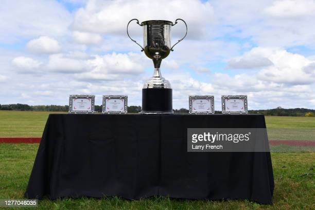 The USPA trophy appears at Grandiosity Events 4th annual Polo & Jazz celebrity charity benefit hosted by Real Housewives of Potomac's Karen Huger,...
