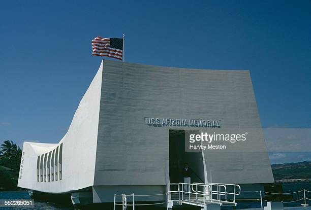 The USS Arizona Memorial at Pearl Harbor Honolulu Hawaii USA 1966