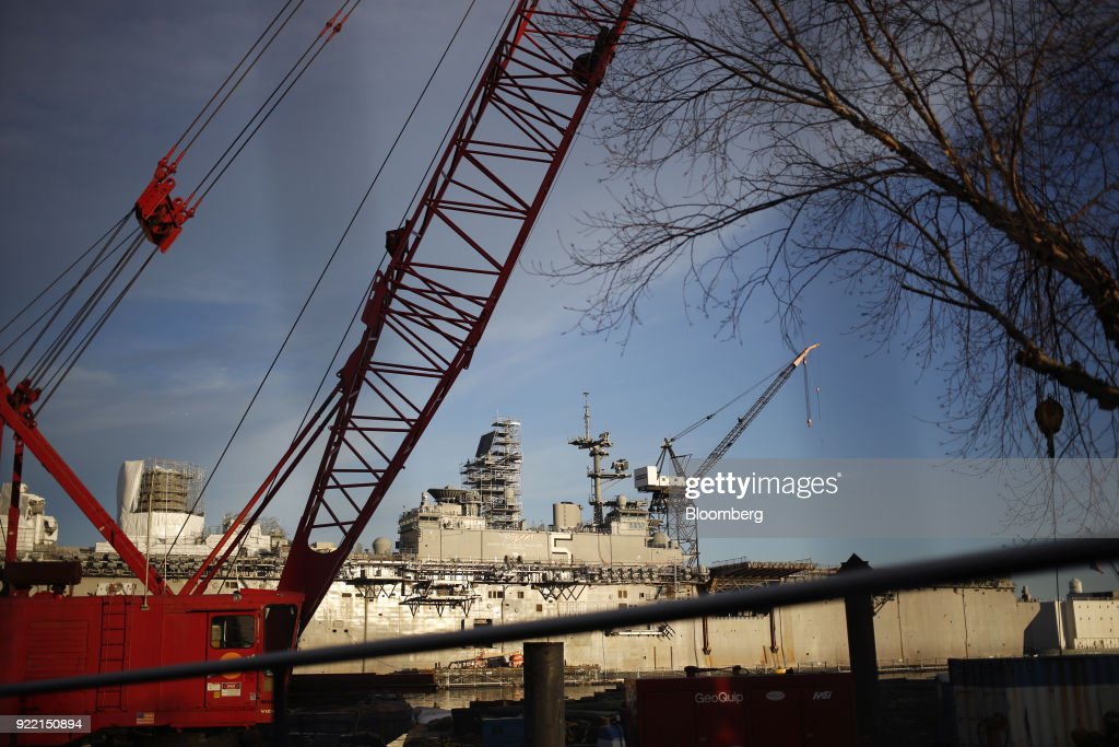 The BAE Systems Plc Norfolk Ship Repair Facility Ahead Of Earnings Figures : News Photo