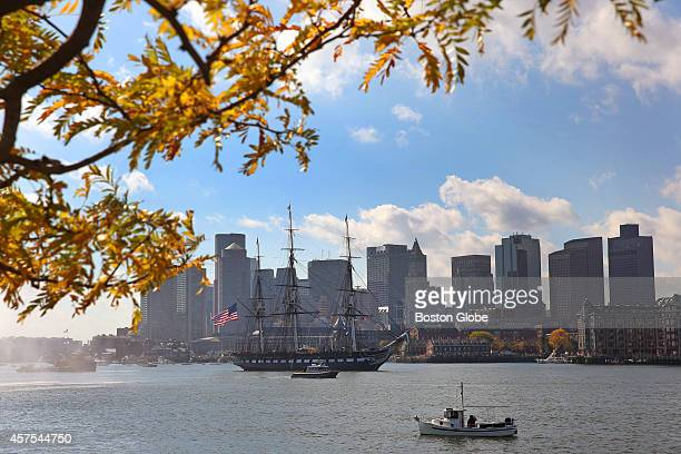 The USS Constitution's final underway until 2018 on Friday October 17 The ship performed a 21gun salute at Castle Island/Fort Independence and a...