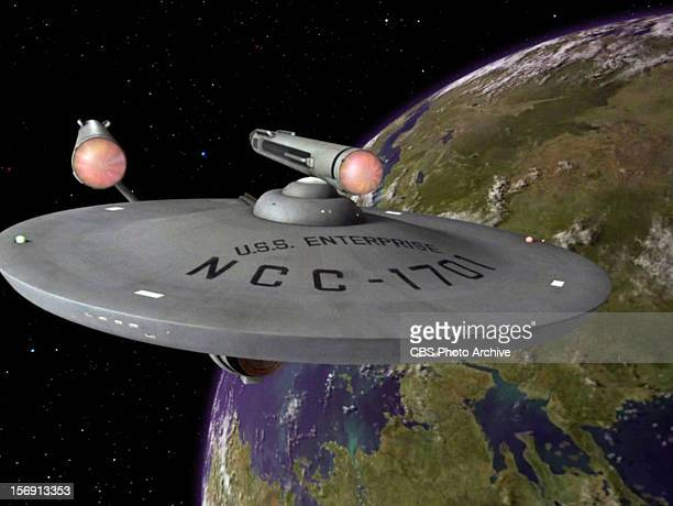 The USS Enterprise in the STAR TREK episode Plato's Stepchildren Original air date November 22 1968 Season 3 episode 10 Image is a screen grab