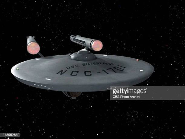 The USS Enterprise in the STAR TREK episode Spock's Brain Original airdate September 20 1968 Season 3 episode 1 Image is a screen grab
