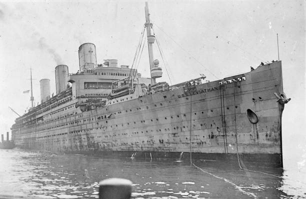 The USS Leviathan, a former vessel of the Hamburg-American...