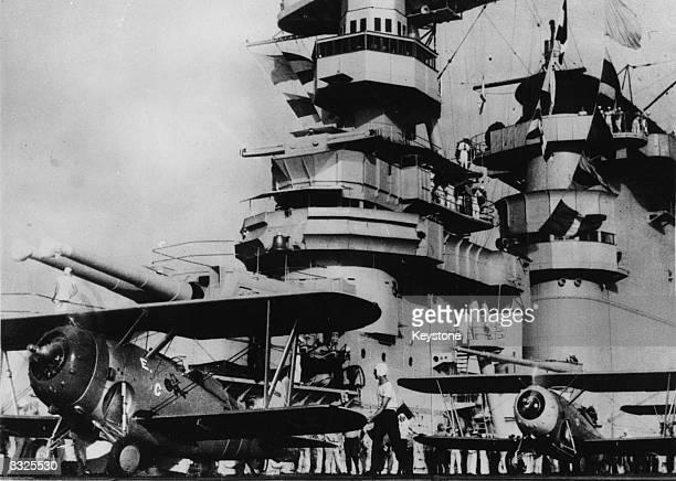 The 'USS Lexington' aircraft carrier