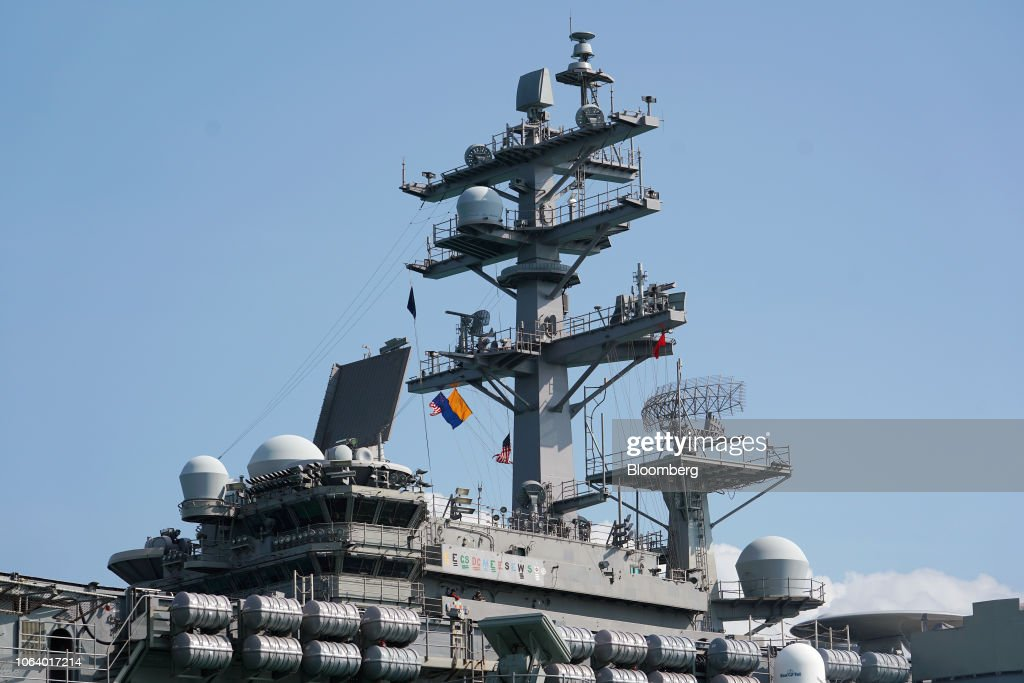 the-uss-ronald-reagan-a-nimitzclass-aircraft-carrier-and-part-of-the-picture-id1064017214