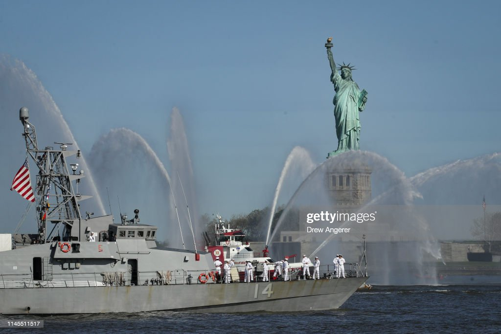 NY: Annual Parade Of Ships Into New York Harbor Kicks Off Fleet Week