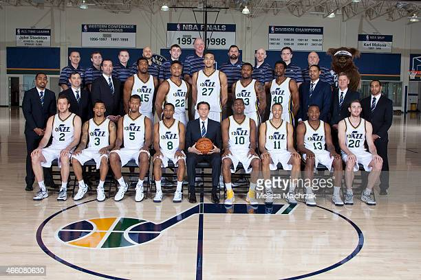 The Utah Jazz 2014 2015 team photo at Zions Basketball Center on March 11 2015 in Salt Lake City Utah NOTE TO USER User expressly acknowledges and...