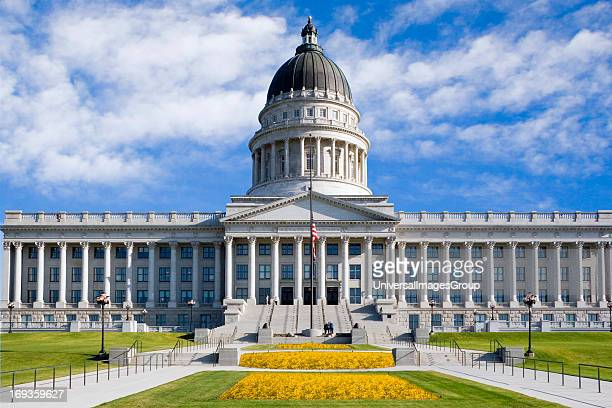 The Utah State Capitol building in Salt Lake City