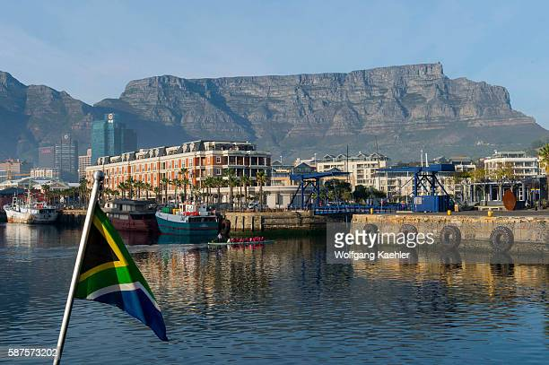 The V A Waterfront in Cape Town South Africa with Table Mountain in the background