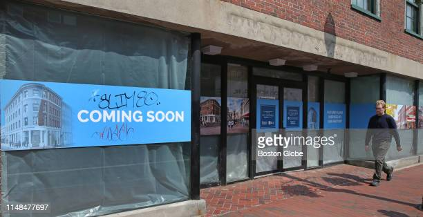 The vacant storefront that formerly housed the Urban Outfitters in Harvard Square in Cambridge MA is pictured on May 31 2019 A wave of closings in...