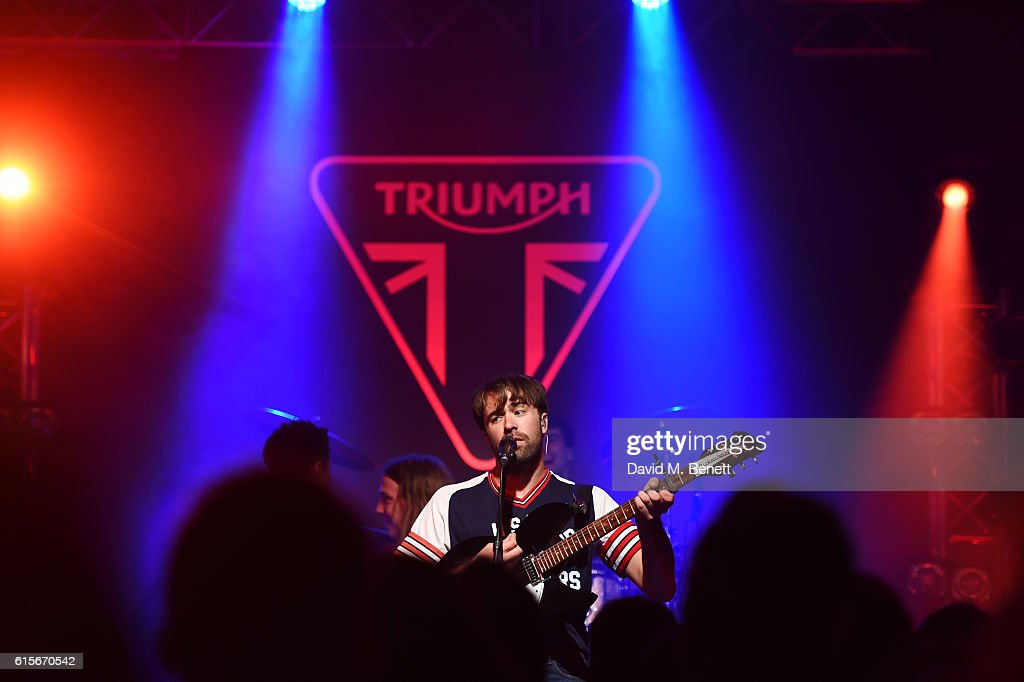 The Vaccines perform at the Global VIP Reveal of the new Triumph Bonneville Bobber on October 19, 2016 in London, England.