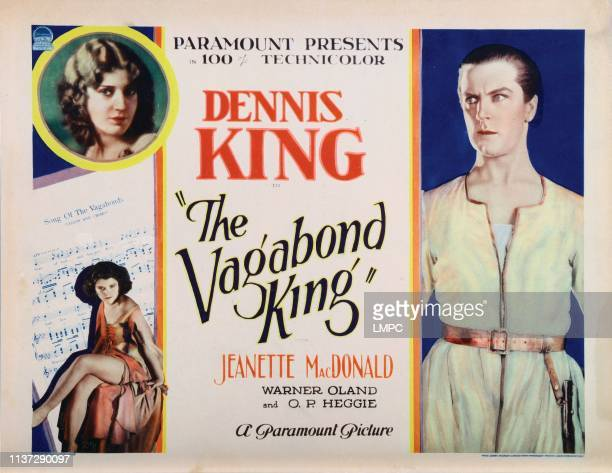 The Vagabond King lobbycard clockwise from top Jeanette MacDonald Dennis King Lillian Roth 1930