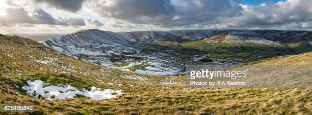 The Vale of Edale in winter, Peak District national park, Derbyshire