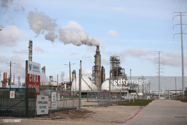 The Valero Energy Corp Houston refinery stands in Houston Texas US on Sunday March 8 2020 Houston has been purposefully going green for more than a...