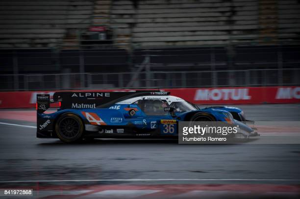 The Valiente Rebellion LM P2 team drives during practice for the FIA World Endurance Championship at Hermanos Rodriguez Race Track on September 02...