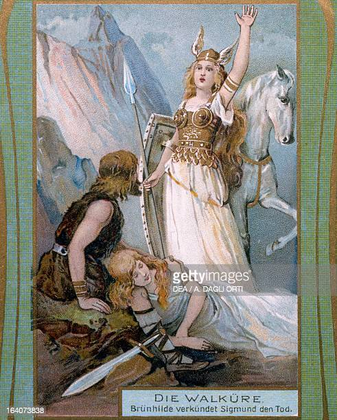 The Valkyrie by Richard Wagner Print early 20th century Bayreuth RichardWagnerMuseum