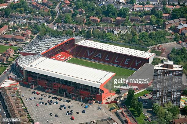 The Valley football ground Charlton London 2008 Aerial view of the home of Charlton Athletic Football Club since 1919 After ground closure in 1985...