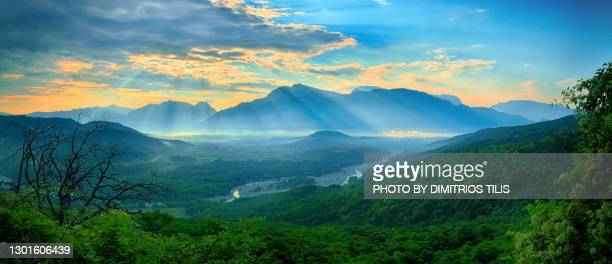 the valley of aoos river - dimitrios tilis stock pictures, royalty-free photos & images