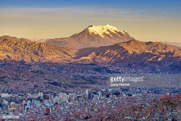 the valley of la paz / bolivia - bolivia stockfoto's en -beelden