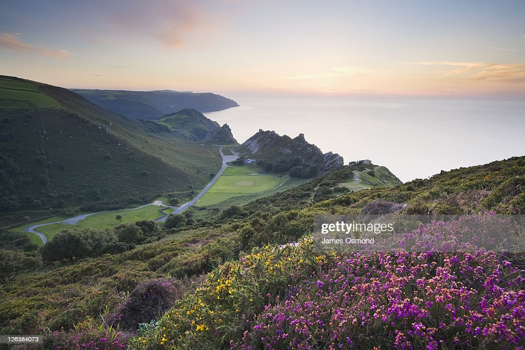 The Valley of Rocks from Hollerday Hill, Lynton. Exmoor National Park. Devon. England. UK. : Stock Photo