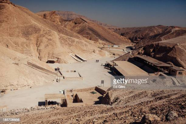 The Valley of the Kings sits largely empty of tourists on October 23 2013 in Luxor Egypt The Valley of the Kings lies on the west bank of the Nile...