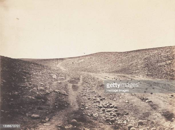 The Valley of the Shadow of Death, 1855. A work made of salted paper print, from the album 'photographic pictures of the seat of war in the crimea' ....