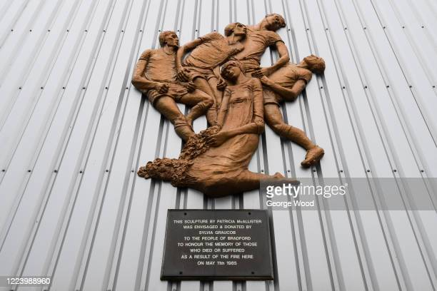 The Valley Parade Fire Memorial in memory of the fifty six people who lost their lives as a result of the fire at the stadium at Valley Parade known...