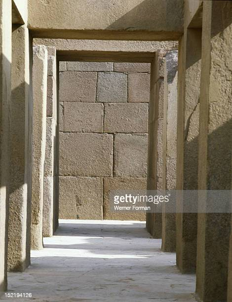 The valley temple of the pyramid of Khephren Egypt Ancient Egyptian Old Kingdom 4th dynasty Giza