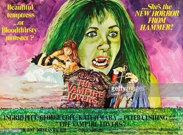 The Vampire Lovers poster UK poster art Ingrid Pitt 1970