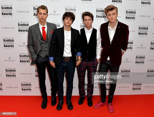 The Vamps attend the Scottish Fashion Awards at Corinthia Hotel London on September 3 2015 in London England