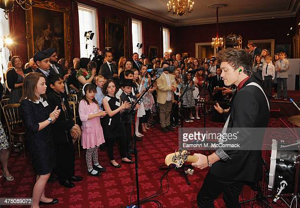 The Vamps perform at The Final Of BBC2's 500 Words Competition at St James Palace on May 29 2015 in London England