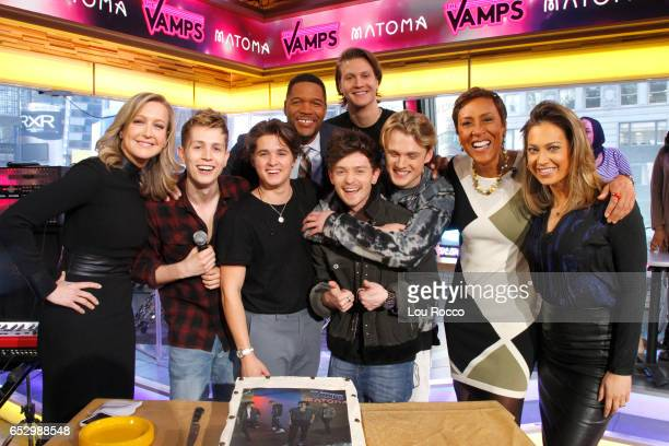 AMERICA The Vamps perform live on 'Good Morning America' Monday March 13 airing on the ABC Television Network LARA